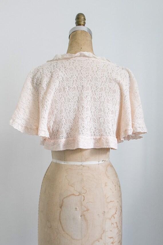 Vintage 30s lace bed jacket - image 8