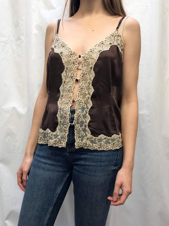 Vintage Elle McPherson silk camisole