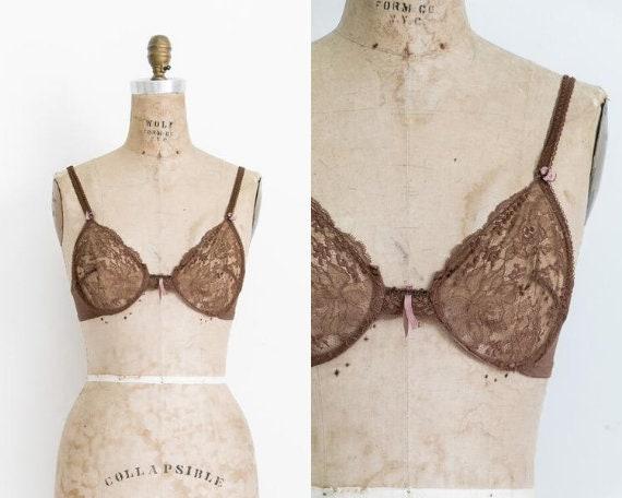 Vintage La Perla silk and lace bra / 36A 34B 32C 3