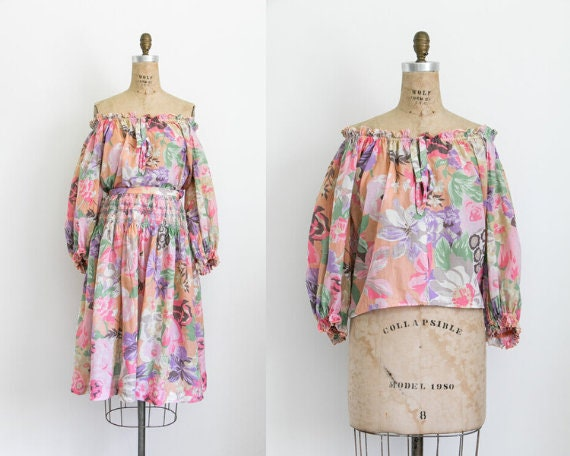 Vintage tropical skirt co-ord