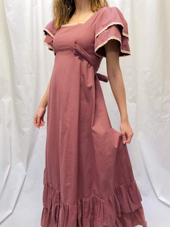Vintage 70s Laura Ashley ruffle dress