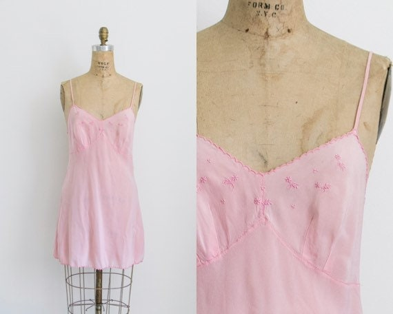 Vintage 30s silk handmade slip