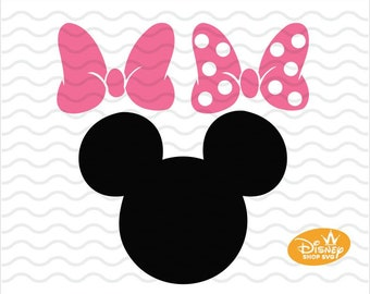 photograph relating to Printable Minnie Mouse Bow referred to as Minnie bow svg Etsy