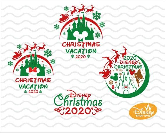 Disney Christmas 2020 Svg Mickey Minnie Mouse Disneyland Etsy