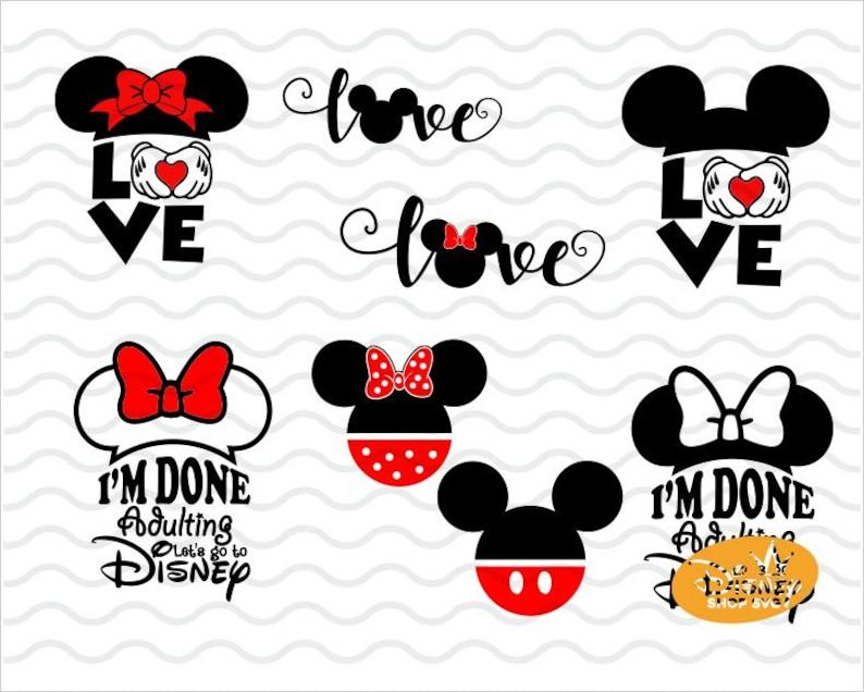 Download Disney Love SVG / Minnie Mouse Layered SVG / Disney I am ...