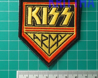 c7261dad7c5cbe 1 piece kiss army band embroidery embroidered iron on sew patch badge  applique cap hat shirt jacket cloth
