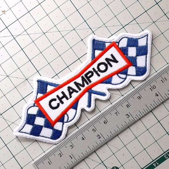 Champion Spark Plug  Embroidered Badge //Cloth Patch