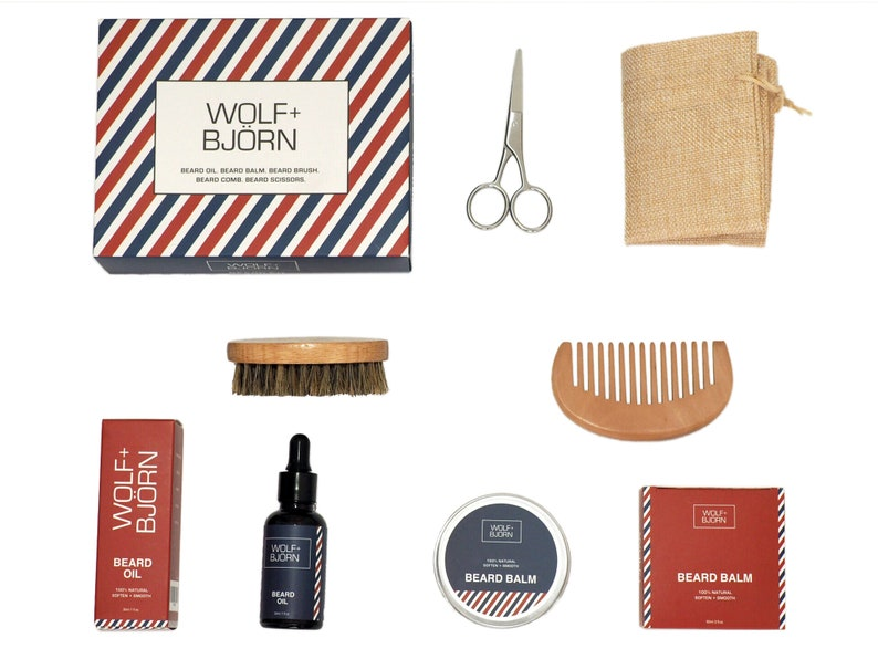 Wolf and Bjorn Beard Grooming Kit for Men