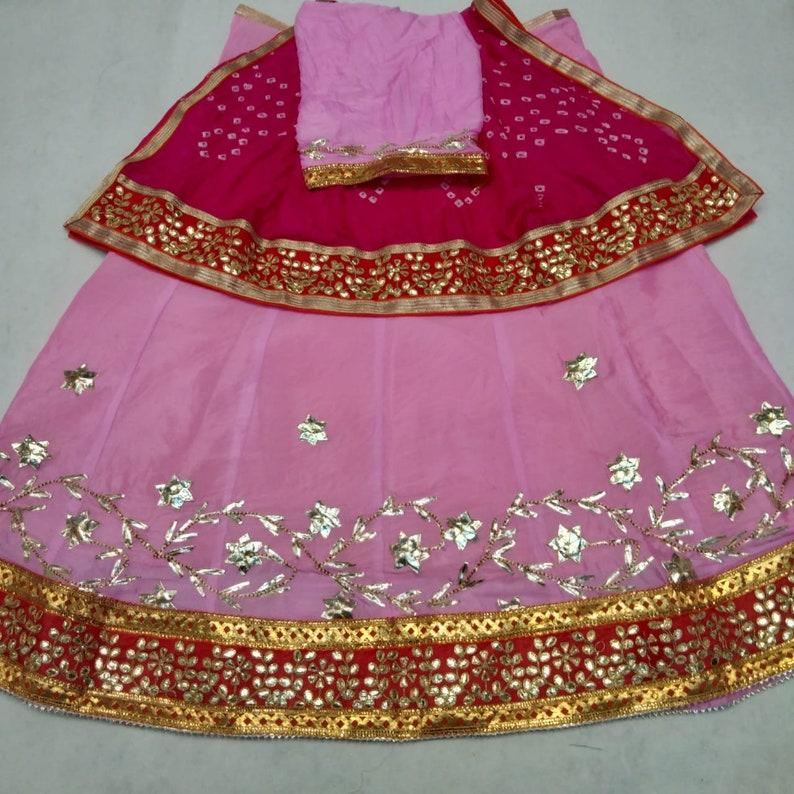 50/% sale Indian Designer bandhej gota patti work Engagement Wear Wedding  Lehenga With Blouse /& Dupatta bridal wedding dresses,