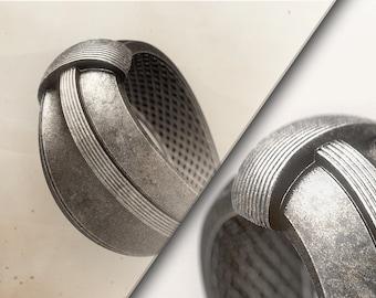 DUNE-FUTURISTIC-STATEMENT Ring-Dune Ring-Unique Ring-Futuristic Clothing-Sci Fi-Space-Raw Ring-Handmade-Dune 2020 Ring-Dune Jewelry-Extropic