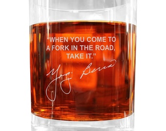 Deeply Etched Famous Quotes on Italian by FamousWhiskeyGlasses