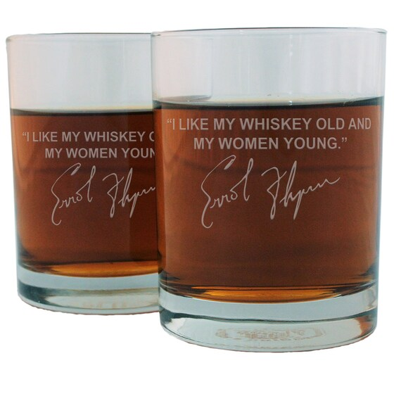Mark Twain If I Cannot Drink Bourbon Quote Etched Glencairn Crystal Whisky Glass Stolzle
