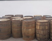 EX WHISKEY 40 GALLON Oak Barrel Wooden Keg Barrels Cider Pub Table Whisky Cask