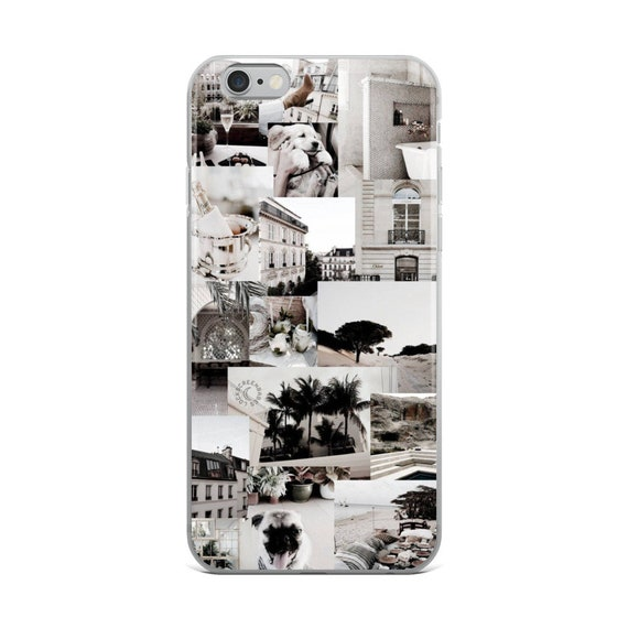 White Collage iPhone Case, Summer iPhone Case, iPhone 6 Plus Case, iPhone 7 Plus iPhone Case, iPhone 8 Plus Case, iPhone X Case, iPhone XS