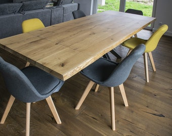 Miraculous Oak Dining Table Etsy Download Free Architecture Designs Rallybritishbridgeorg
