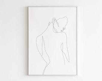 Body Line Art Print Etsy