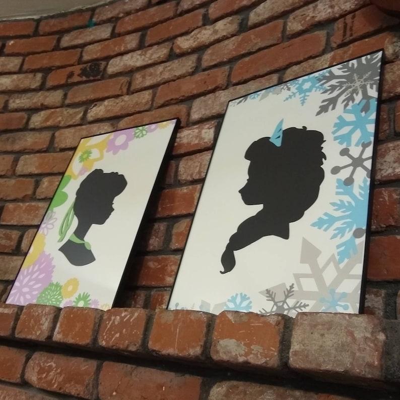Sisters silhouette 12 x 18 each