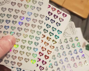Foiled date dots