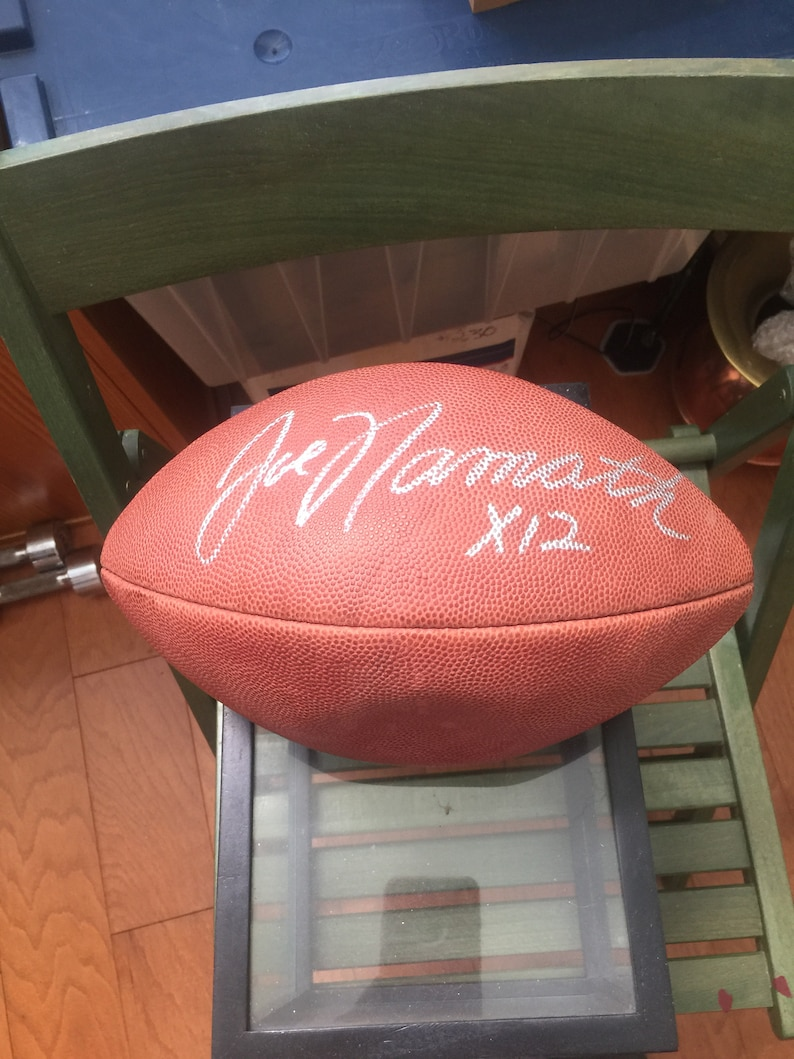 hot sale online 377ff e6b3a Joe Namath Autographed Football with Certificate of Authentication