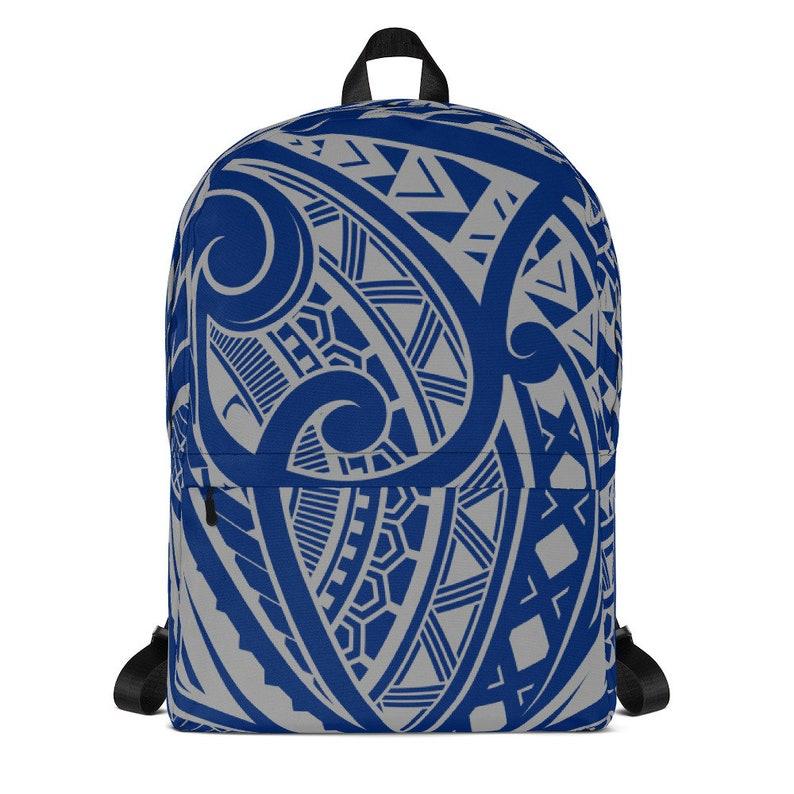 Blue Polynesian Tattoo Backpack