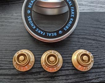 Real Fake Knobs LP-type Gold - 3 Magnet Set