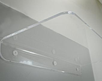 "12"" Long Clear Acrylic Floating Shelf Transparent"