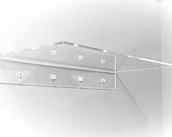 "36"" Clear Acrylic Floating Shelf  36"" long - Fully customizable"