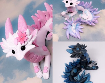OOAK Tie-Dye Sleeping Eastern Dragon