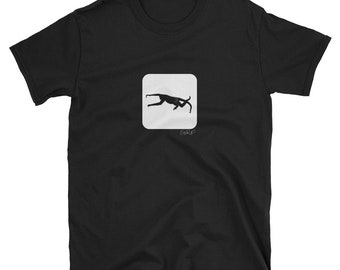 Black and White Photograph Flying Silhouette Costa Rica Monkey Short-Sleeve Unisex T-Shirt