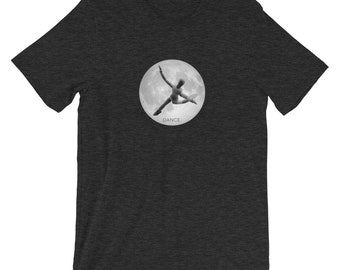 Creative Dance T-shirt ,women's dance t-shirt, Joyful Articulating Model,dance tee, cute outfit, moon tshirt, Short-Sleeve Unisex T-Shirt