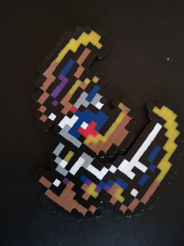 Lunala Pixel Art Perler Beads Art