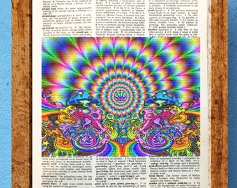 LIMITED PRINT Ram Dass Alpert Psychonaut Psychedelic Portrait Painting Wall Art