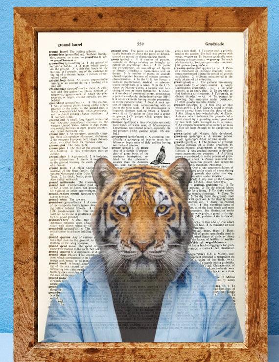 SPHYNX CAT Diccionario Art Print Hipster Animal Decoración De Pared Imagen