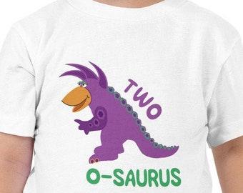 Second Birthday Shirt Boy Second Birthday Shirt Girl Purple Dino Boys Dinosaur Birthday Shirt