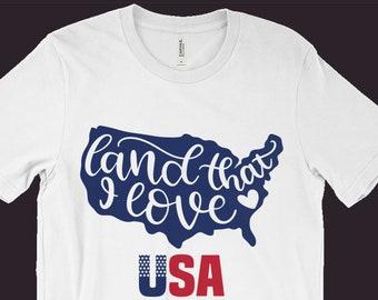 USA T-Shirt, Patriotic Shirt, Usa America Tee, Red White & Blue, 4th Of July Shirt