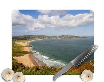"""Tempered Glass Chopping Board Beach Ocean Cutting Board Ireland Cutting Board - 12"""" x 15"""""""