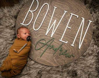 Nursery Name Sign Boy Nursery Name Sign Girl Crib Sign Solid Wood Nursery Name Sign Baby Name Sign