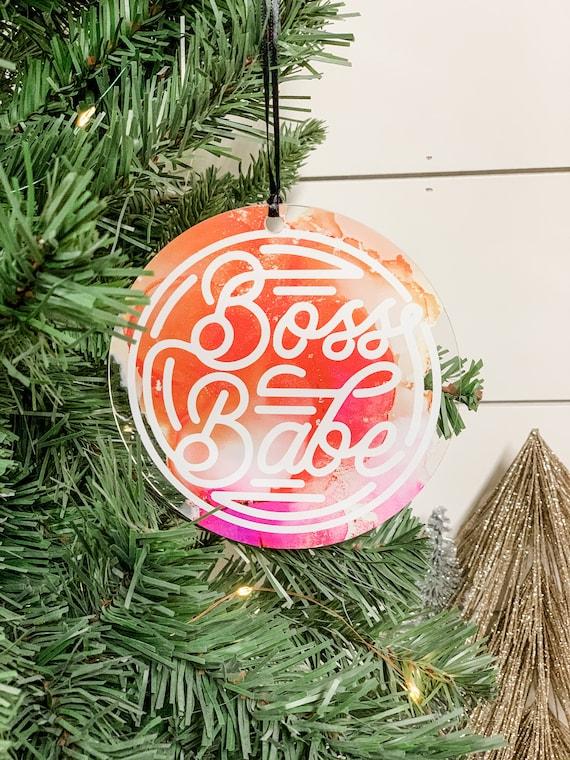 Boss Babe Christmas Ornament  2020 Christmas Ornament  Small