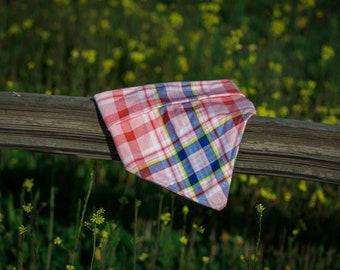 100/% Cotton Flannel Pink Aztec Dog Bandana Tie OnSnap On