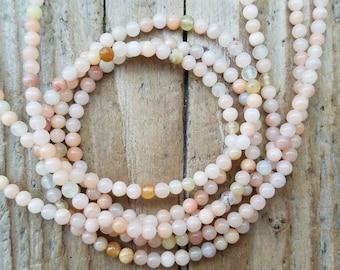 Kirsty delicate lava bead /& labradorite semi precious tassel bracelet