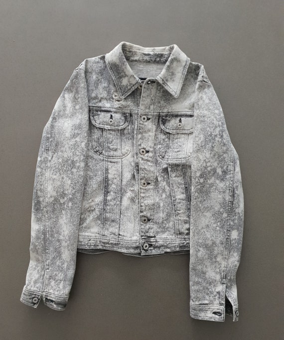 00s Dolce & Gabbana Denim Jacket Used-Look Grey /