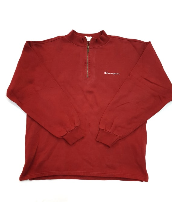 90s Vintage Champion Sweater bordeaux Red / Champi