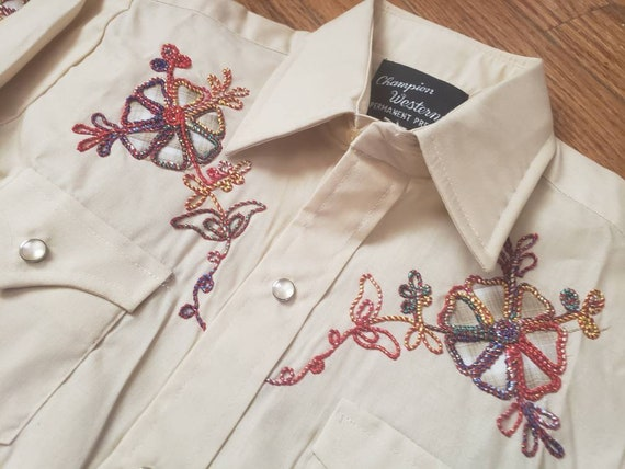 Youth Vintage WESTERN pearlsnap shirts. Champion … - image 2