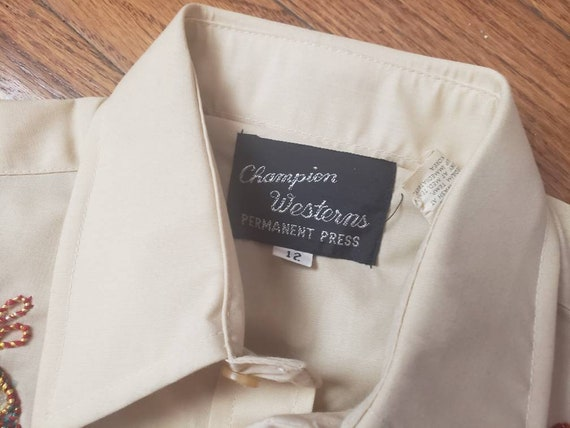 Youth Vintage WESTERN pearlsnap shirts. Champion … - image 3