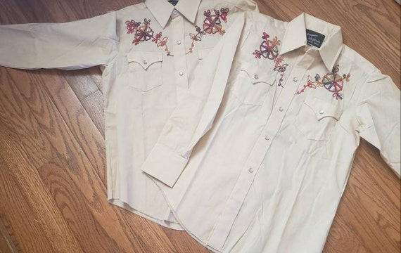Youth Vintage WESTERN pearlsnap shirts. Champion … - image 1