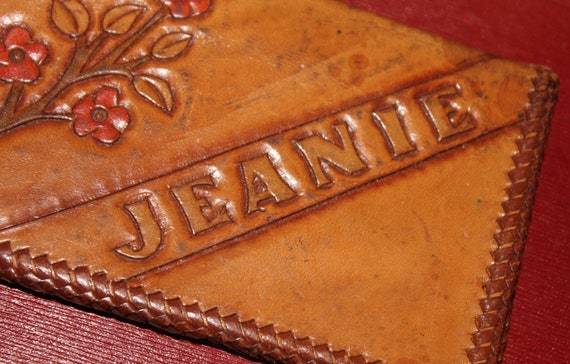 Vintage Jeanie Floral Leather Wallet
