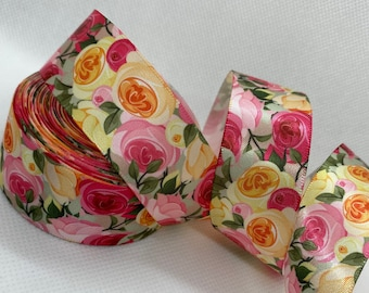 480 Assorted Satin Ribbon Rose Buds Flowers Appliques Wedding Decor 15mm