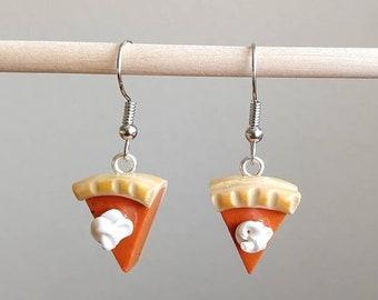 Pumpkin pie earrings, pumpkin pie, Thanksgiving earrings, Thanksgiving gift, pie earrings, fall earrings, holiday earrings, Autumn earrings