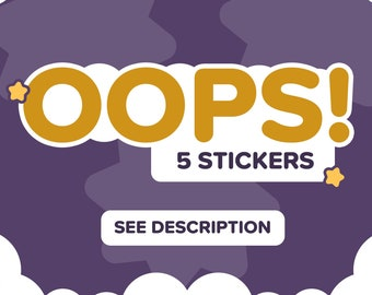 OOPS (x5) | Protected Sticker/Decal Bundle