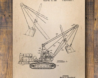 Shovel Anthony United States Patent Vintage Poster Sketch Wall Decor #1009 Wall Decor Boats Patent Prints